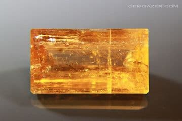 Imperial Topaz, faceted, Brazil. 13.34 carats.