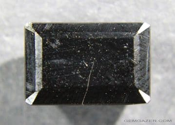 Jet, faceted, Spain.  3.36 carats.  ** SOLD **