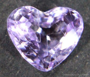 Lilac Sapphire, faceted, Madagascar.  1.62 carats.