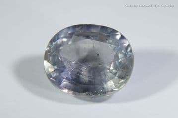 Lilac Sapphire, faceted, Tanzania. 4.33 carats.