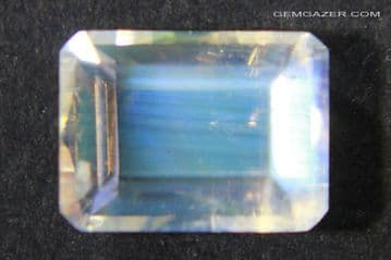 Orthoclase Moonstone, faceted, India. 1.53 carats.