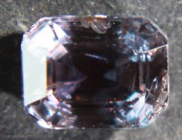 Pale purple Sapphire, faceted, Tanzania.  1.70 carats.