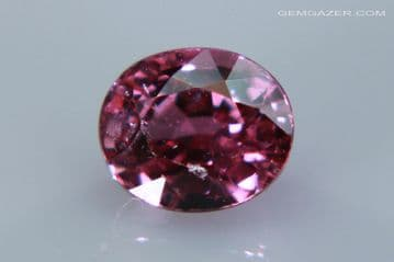 Pink Sapphire, faceted, Madagascar. 1.01 carats. (See Video)