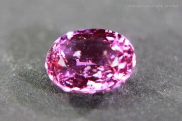 Pink Sapphire, faceted, Madagascar. 1.06 carats.