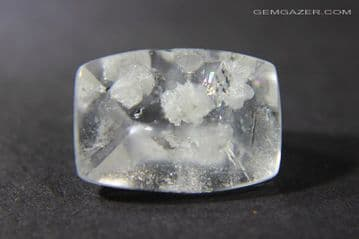 Quart with Clevelandite inclusions, faceted,  Brazil.  6.35 carats.