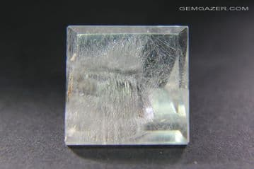 Quartz with Brookite inclusions, faceted, Brazil.  15.78 carats.