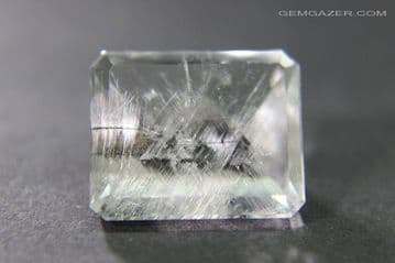 Quartz with Brookite inclusions, faceted, Brazil. 6.30 carats. ** SOLD **
