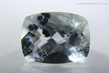 Quartz with Clinochlore inclusions, faceted, China.. 13.03 carats.