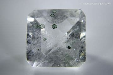 Quartz with Clinochlorite inclusions, faceted, Brazil. 15.49 carats
