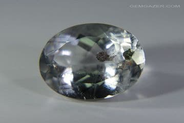 Quartz with Clinochlorite inclusions, faceted, Brazil.  5.36 carats.
