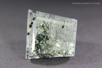 Quartz with Fuchsite Mica inclusions, faceted, Brazil. 15.94 carats.