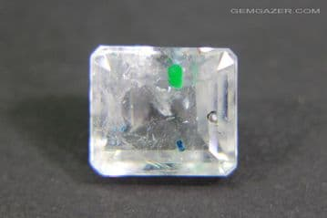 Quartz with Gilalite inclusions, faceted, Brazil. 3.43 carats.  ** SOLD **