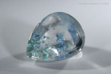 Quartz with Gilalite inclusions, faceted, Brazil. 7.36 carats.  ** SOLD **