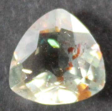 Quartz with Hematite platelet inclusions, faceted, Madagascar.  3.36 carats.  ** SOLD **