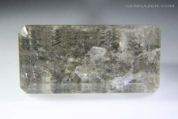 Quartz with Lodolite and positive crystal inclusions, faceted, Brazil. 34.29 carats.