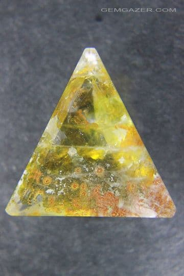 Quartz with Oxide inclusions, faceted, Brazil.  19.62 carats. ** SOLD **