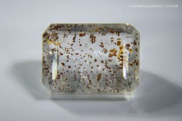 Quartz with oxide inclusions, faceted, Madagascar. 10.67 carats.  ** SOLD **