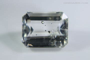 Quartz with Pyrite crystal inclusions, faceted. Brazil. 3.97 carats.