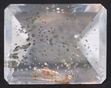 Quartz with Pyrite inclusions, faceted, Brazil.   42.05 carats.