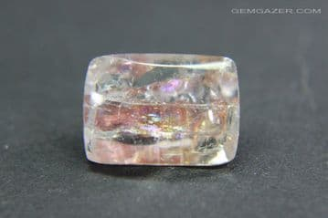 Quartz with red Tourmaline inclusions, faceted, Brazil. 3.82 carats.