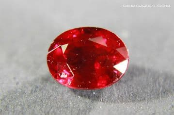 Ruby, faceted, Madagascar. 1.02 carats.
