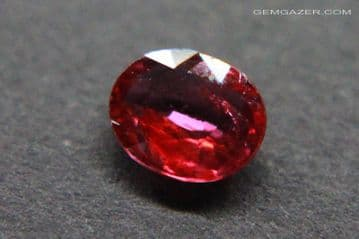 Ruby, pinkish-red, faceted, Thailand. 0.59 carat. ** SOLD **