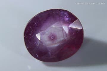Ruby with hexagonal silk zoning, faceted. Madagascar. 3.19 carats (See Video) ** SOLD **