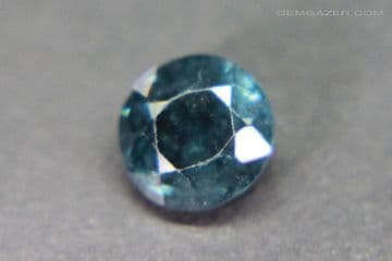 Spinel, blue faceted, Myanmar. 1.96 carats.