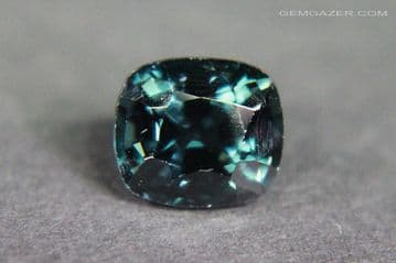 Spinel, greenish-blue faceted, Myanmar. 1.50 carats.