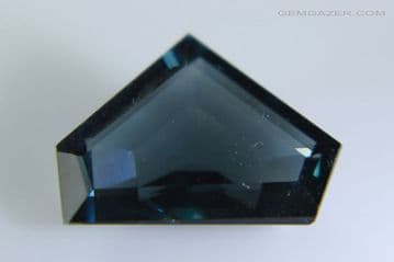 Spinel, greenish-blue faceted, Myanmar. 2.12 carats.