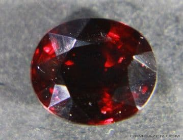 Spinel, red faceted, Myanmar 1.13 carats.