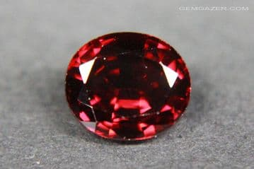 Spinel, red faceted, Myanmar. 1.14 carats.