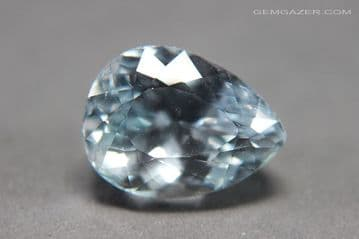 Spodumene, pale blue colour, faceted, Afghanistan. 23.49 carats. (Video)