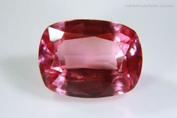 Synthetic 'Padparadscha' Sapphire, flame fusion (Verneuil) method, faceted.  9.02 carats.