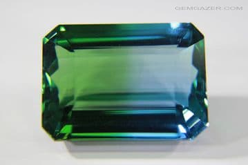 Synthetic Quartz, Bi-colour blue and green, faceted, Russia. 23.76 carats. ** SOLD **