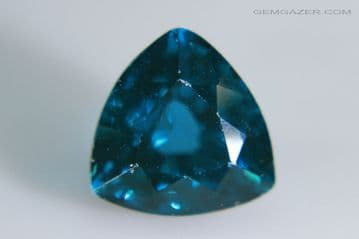 Synthetic Spinel, Verneuil method, dark Aquamarine colour faceted. 5.36 carats.