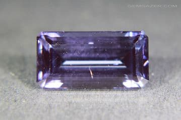 Synthetic Spinel, Verneuil method, purple faceted. 5.17 carats.