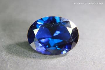 Synthetic Spinel, Verneuil method, royal blue faceted, 9.60 carats. ** SOLD **