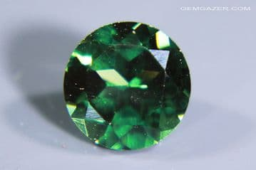 Synthetic Spinel, Verneuil method, Tourmaline-green faceted. 1.49 carats.