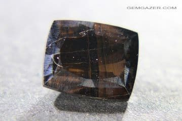 Tiger's-eye, faceted, China.  5.95 carats.