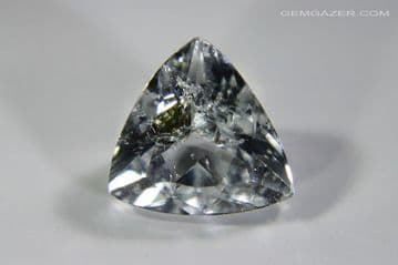 Topaz, colourless with Fuchsite inclusions, Brazil. 2.39 carats.