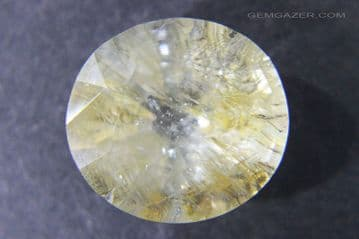 Topaz with Limonite inclusions, faceted, Pakistan.  21.77 carats.