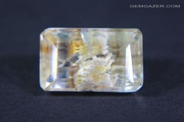 Topaz with Lodolite inclusions, faceted, Myanmar. 6.84 carats.