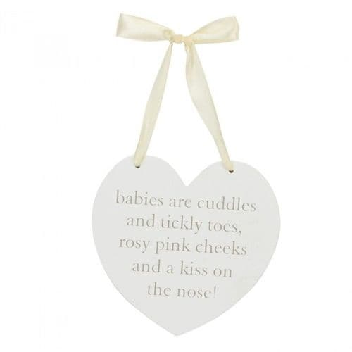 'Babies Are' Heart Plaque