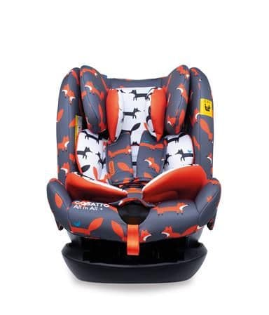 All in All Plus ISOFIX Car Seat Charcoal Mister Fox