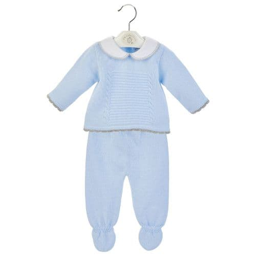 Baby Blue Two Piece Spanish Leggings Set