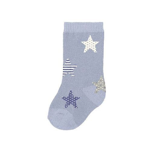 Boys Blue Ankle Sock with Star Print