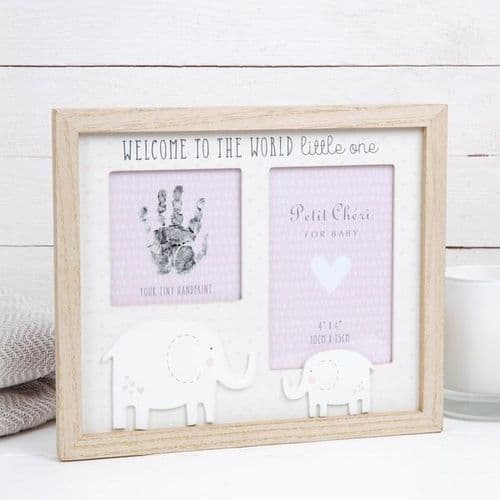 Hand Print & Photo Frame - Pink