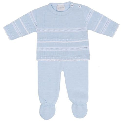 Knitted Stripe 2 Piece Spanish Set with Feet