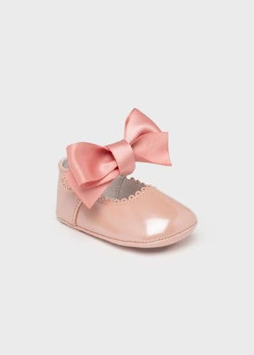 Mary Jane Shoe with Bow - Wild Rose